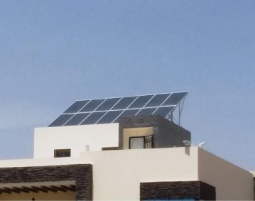 Installation photovoltaïque POMPAGE d'une puissance 4.Kwc ROUTE SIDI MANSOUR SFAX TUNISIE Societe SOLIDER