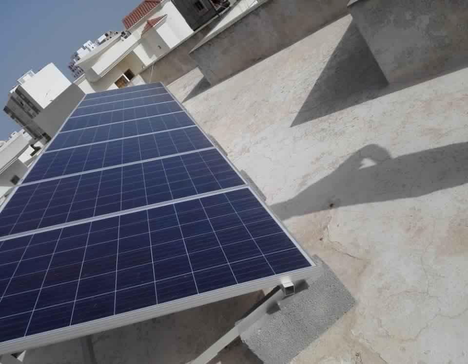 Installation photovoltaïque raccordée au réseau d'une puissance 2Kwc à route Gremda SOLIDER 3SFAX TUNISIE
