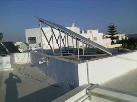 Installation photovoltaïque raccordée au réseau d'une puissance 2Kwc Gremda SFAX TUNISIE Societe SOLIDER 1