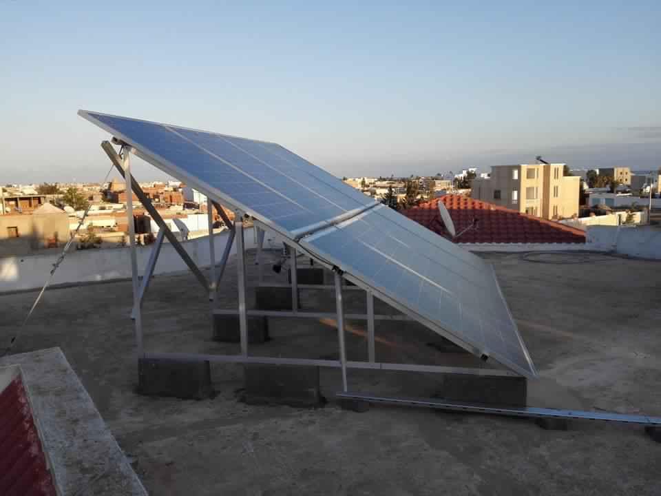 Installation photovoltaïque raccordée au réseau d'une puissance 2Kwc SIDI MANSOUR 3 SOLIDER SFAX TUNISIE