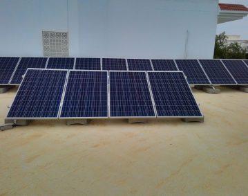 Installation photovoltaïque raccordée au réseau d'une puissance 4.08Kwc route GREMDA KM 6 SFAX TUNISIE Societe SOLIDER
