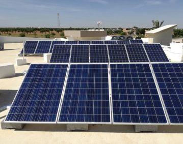 Installation photovoltaïque raccordée au réseau d'une puissance 4.845Kwc route EL AIN KM 11 SFAX TUNISIE Societe SOLIDER