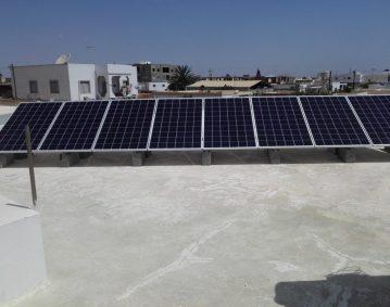 installation photovoltaique raccorsée au reseau 3.5Kwc à MAHDIA  KM 6 sfax tunisie societe solider1