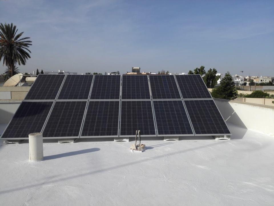 installation photovoltaique raccorsée au reseau 3 Kwc à ROUTE MATAR KM 1.5 sfax tunisie societe solider