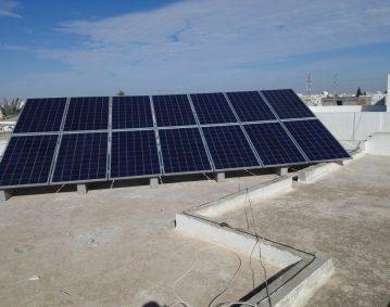 installation photovoltaique raccorsée au reseau 3.5Kwc à MAHDIA KM 6 sfax tunisie societe solider2