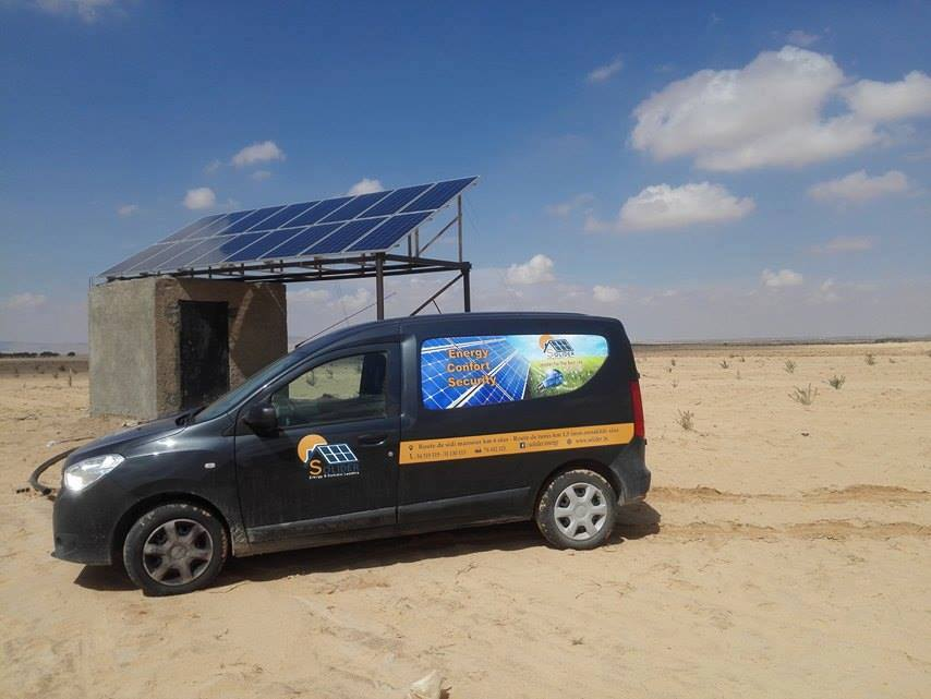 station de pompage photovoltaique SKHIRA SFAX TUNISIE societe SOLIDER